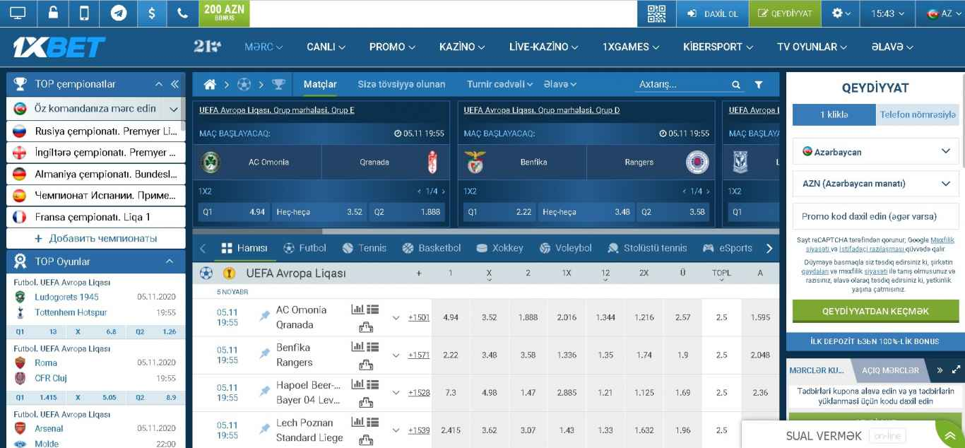 1xBet sports betting